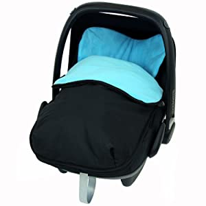 Universal Car Seat Footmuff To Fit Maxi Cosi - Ocean (Black / Ocean)