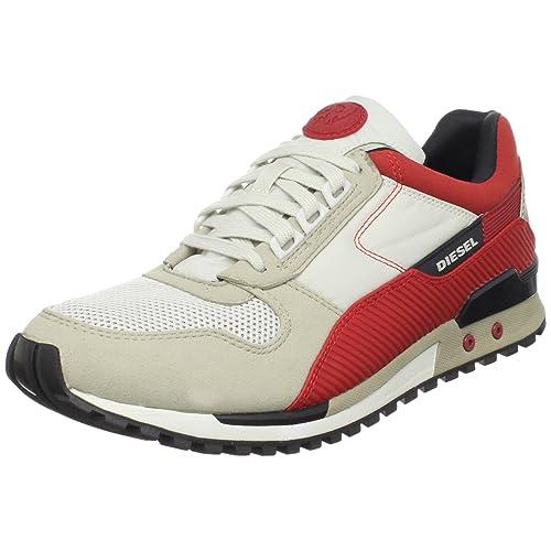 Diesel Zapatillas High Speed Gris/Rojo 45: Amazon.es: Zapatos y complementos