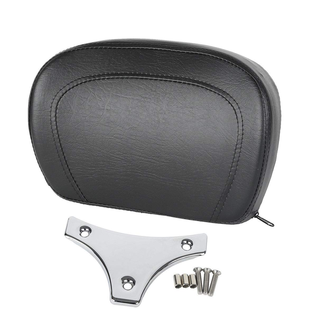 TCMT Detachable Leather Sissy Bar Backrest Pad Bracket For Harley Touring Road King Electra 1997 98 99 00 010 20 3 04 05 06 07 08 09 10 11 12 13 14 2015 2016 2017 2018