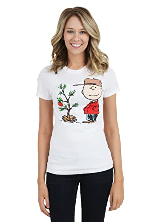 womens charlie brown christmas tree t shirt x small