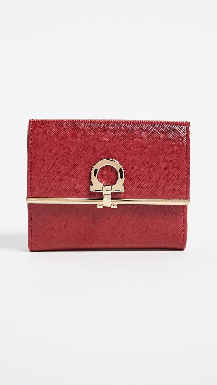 Porte-monnaie Pour Les Femmes En Vente, Cuir Rouge, Imprimé 2017, Taille Ferragamo