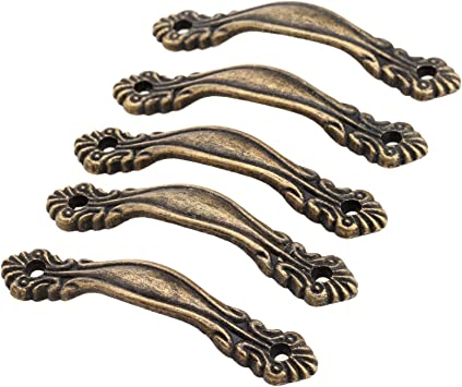 1//5PCS Antique Jewelry Box Cabinet Cupboard Chest Wardrobe Pull Handle Knobs UK