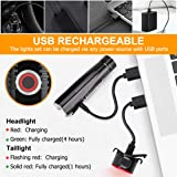 Te-Rich Ultra Bright Bike Lights Rechargeable 800