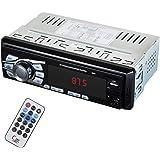 Car Stereo with Bluetooth ,12-24V Multimedia Car Radio Single din , Support :MP3 /USB /TF/Aux-in/ FM Radio/4X25W Output Black