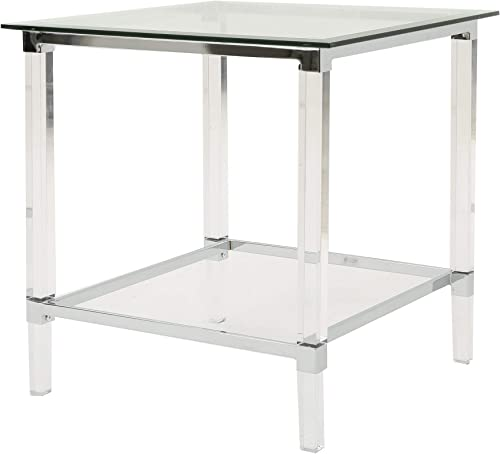 Christopher Knight Home Orianna Acrylic and Tempered Glass Square Side Table