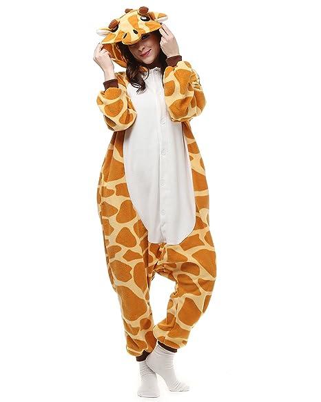 Amazon.com Adults Onesies - Animal Women Mens Giraffe Onesie Costumes Cosplay Outfit Pamajas Clothing  sc 1 st  Amazon.com & Amazon.com: Adults Onesies - Animal Women Mens Giraffe Onesie ...