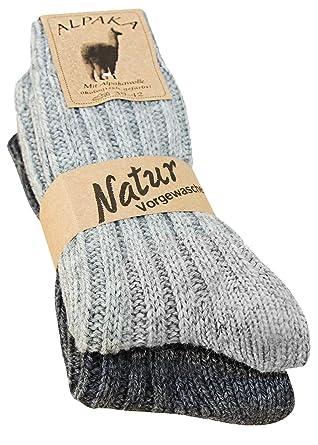 kb-Socken - 2 pares de calcetines, gruesa y suave, con alpaca, colores naturales: Amazon.es: Ropa y accesorios