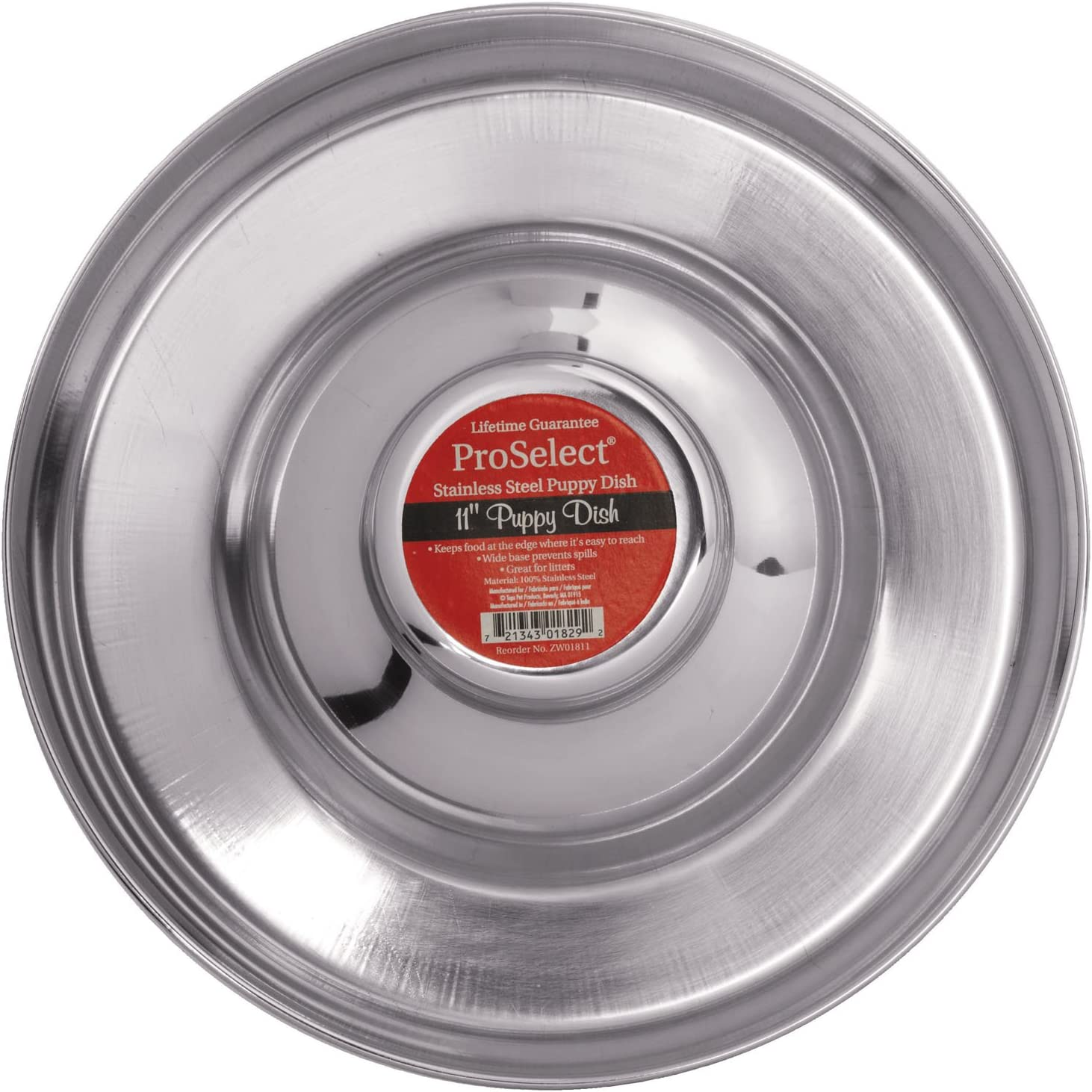 ProSelect Stainless Steel Puppy Dishes — Versatile Dishes for Multiple Puppies, 11