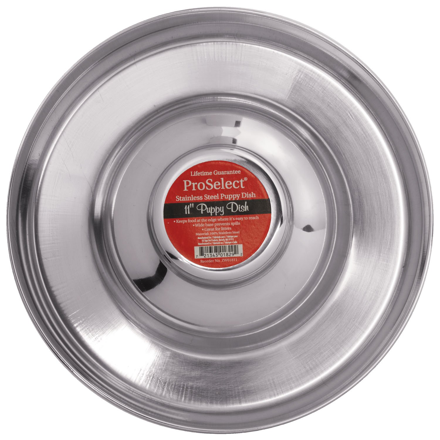 Pro Select Stainless Steel Puppy Dishes — Versatile Dishes for Multiple Puppies, 11''