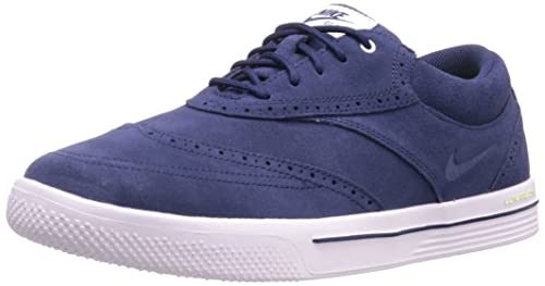 super popular cce4e c03bb Nike Golf Men s Lunar Swingtip Suede Golf Shoe,Midnight Navy White Volt,