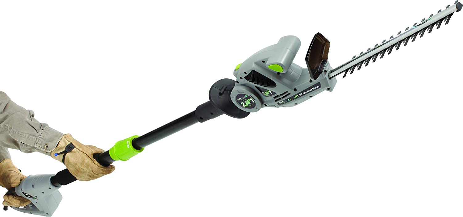 Earthwise CVPH41018 18-Inch 2.8-Amp Corded Electric 2-in-1 Pole Handheld Hedge Trimmer