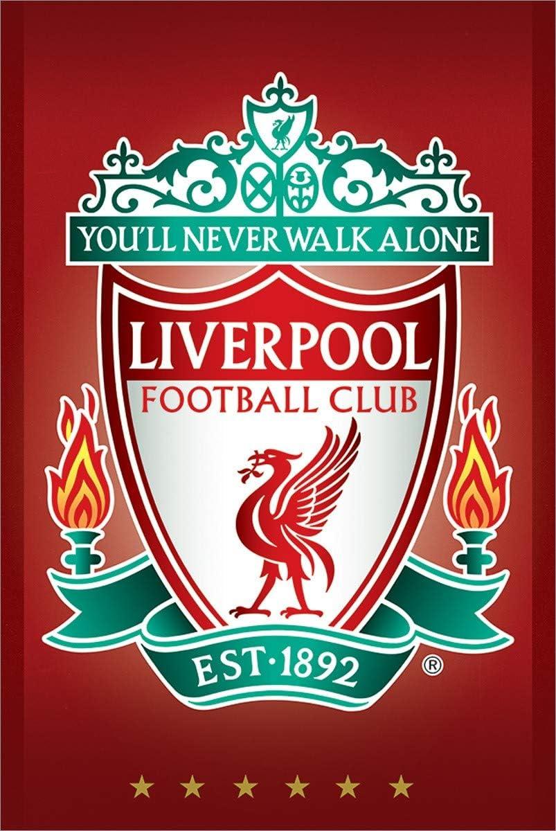 Amazon Com Liverpool Fc Crest Lfc Maxi Poster 61x91 5cm Posters Prints