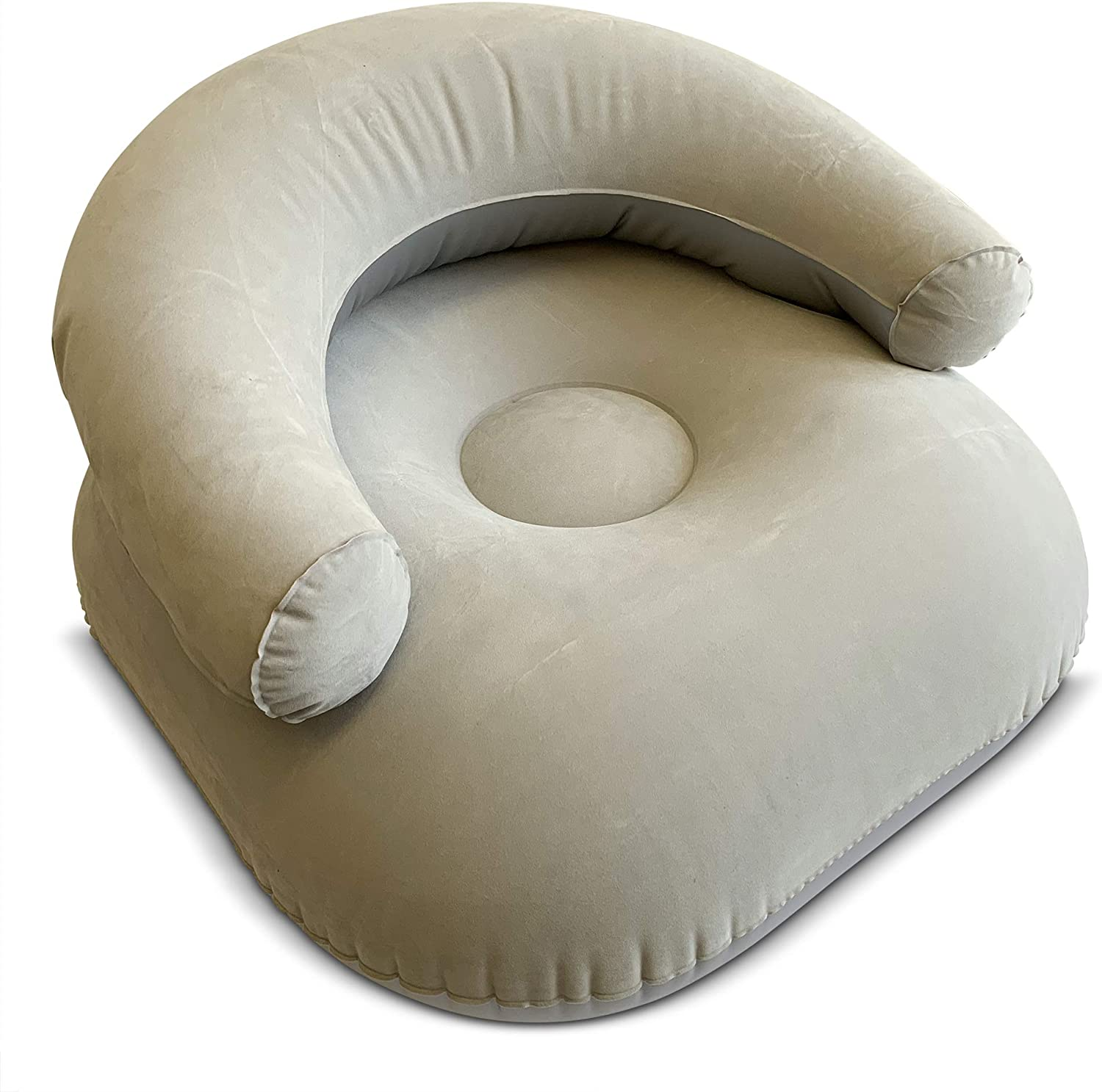 Comfort Axis Inflatable Camp Lounger Sofa for Kids Gray 23.5