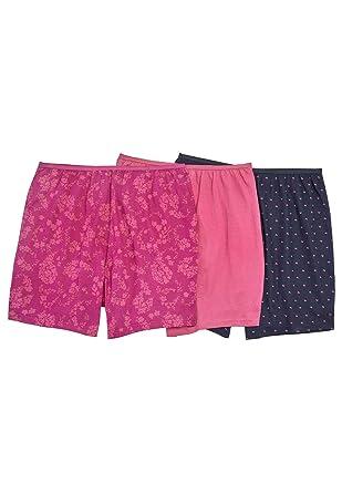 7946e08b1ead Comfort Choice Women's Plus Size 3-Pack Cotton Boxer - Paisley Heart Pack,  ...