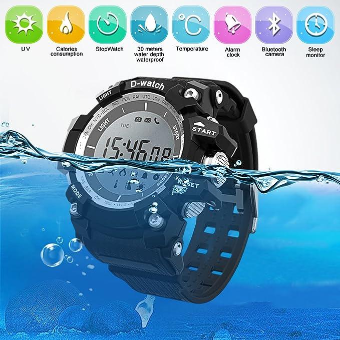 Amazon.com: DOESIT Sports Watch, Waterproof LED Screen ...