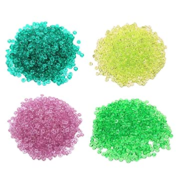 Perlas de Pecera para crujientes Slime - claro 280 g perlas de plástico florero Filler pecera
