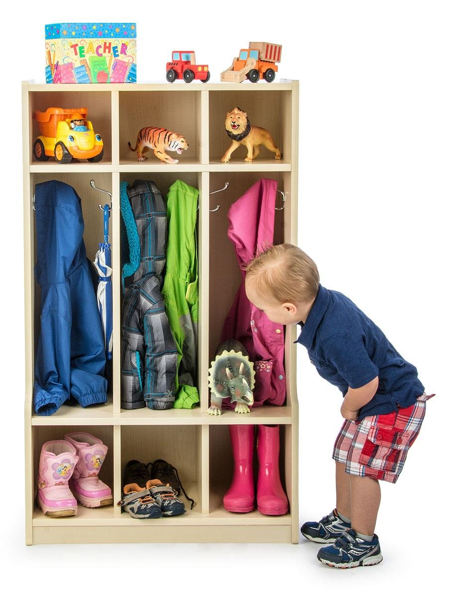amazon com displays2go free standing daycare preschool coat