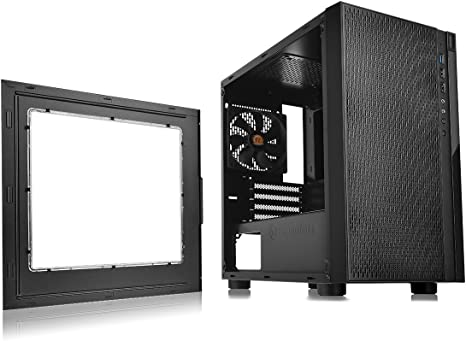 Thermaltake Versa H18 Micro-Tower Negro - Caja de Ordenador (Micro-Tower, PC, SPCC, Negro, Micro ATX,Mini-ITX, 15,5 cm): Amazon.es: Informática