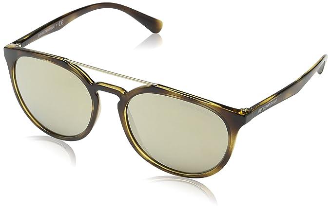 Emporio Armani Herren Sonnenbrille 0EA4103 50265A, Braun (Havana/Lightbrownmirrorgold), 56