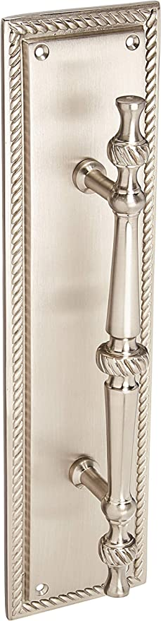 Brass Accents A06 P0241 619 Academy Pull Plate 3 1 8 X 12 Satin Nickel Amazon Com