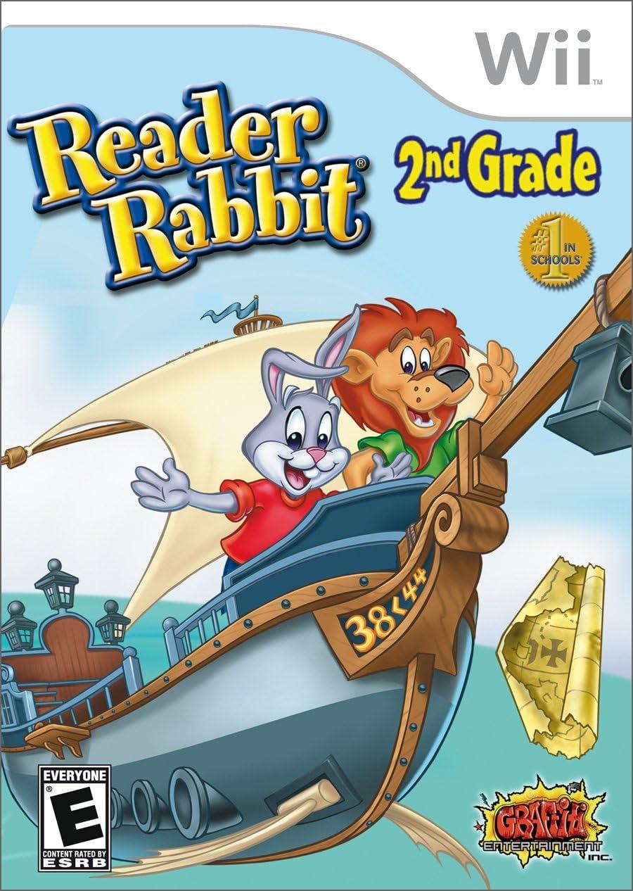 amazon com reader rabbit 2nd grade nintendo wii graffiti