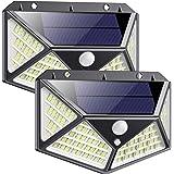 Luz Solar Exterior 162 LED, QTshine【2020 Última versión】Foco Solar con Sensor de Movimiento Gran Angular de Iluminación…