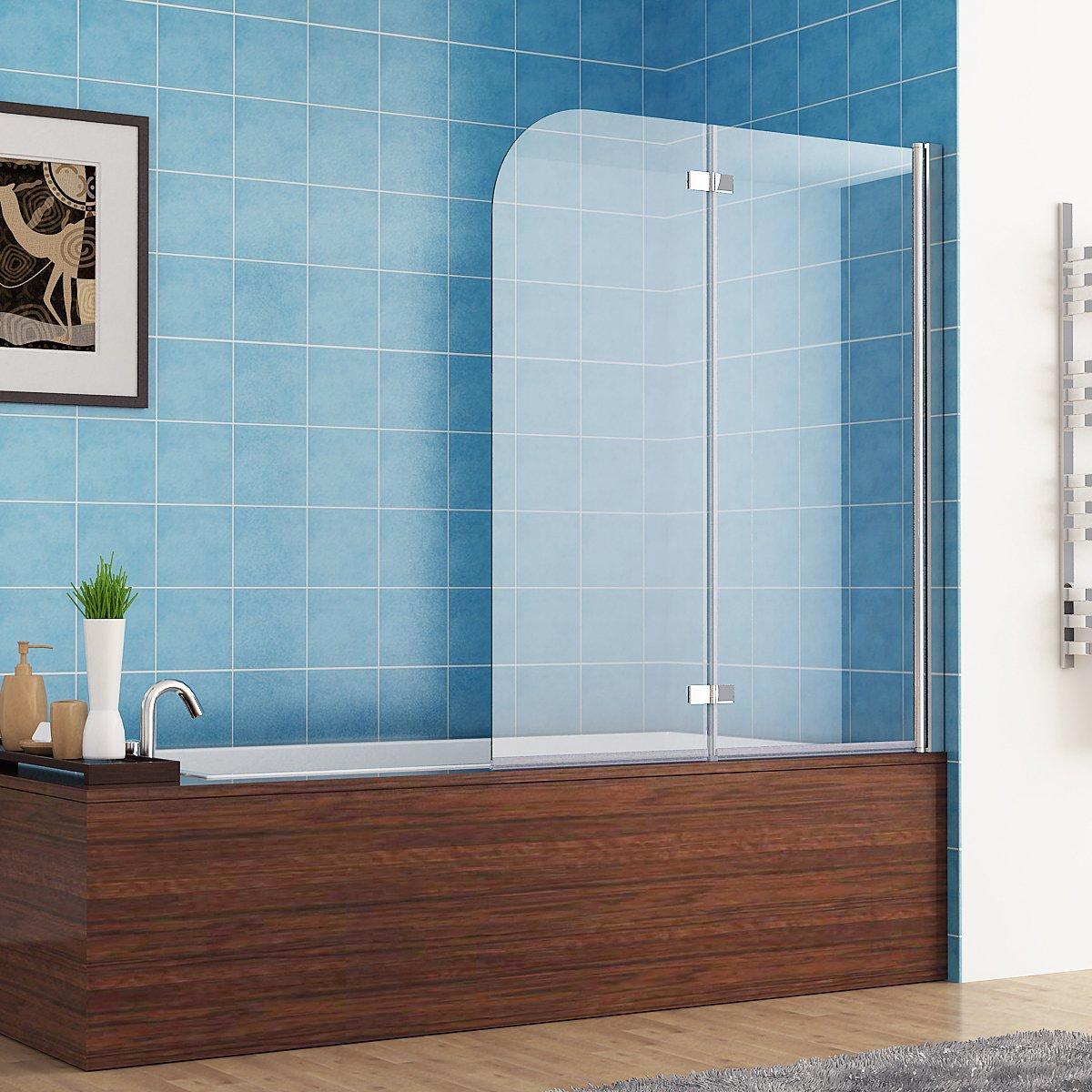 120 x 140 cm Badewannen 2 tlg. Faltwand Aufsatz 180° Duschwand ...   {Duschabtrennung 82}