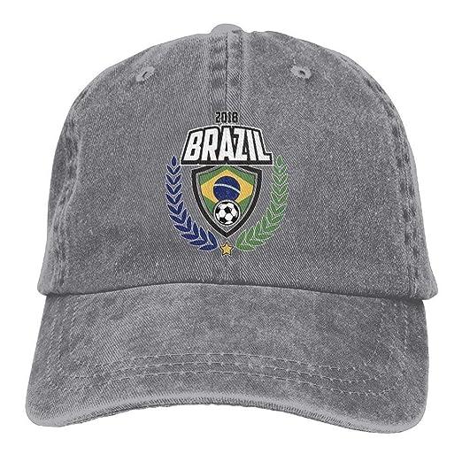 1afbe4f283947 2018 Brazil Football Adult Cowboy Baseball Caps Denim Hats for Men Women at  Amazon Men s Clothing store