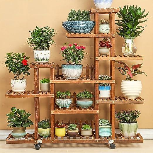 Pergolas / flor estante de madera maciza de flores balcón ...