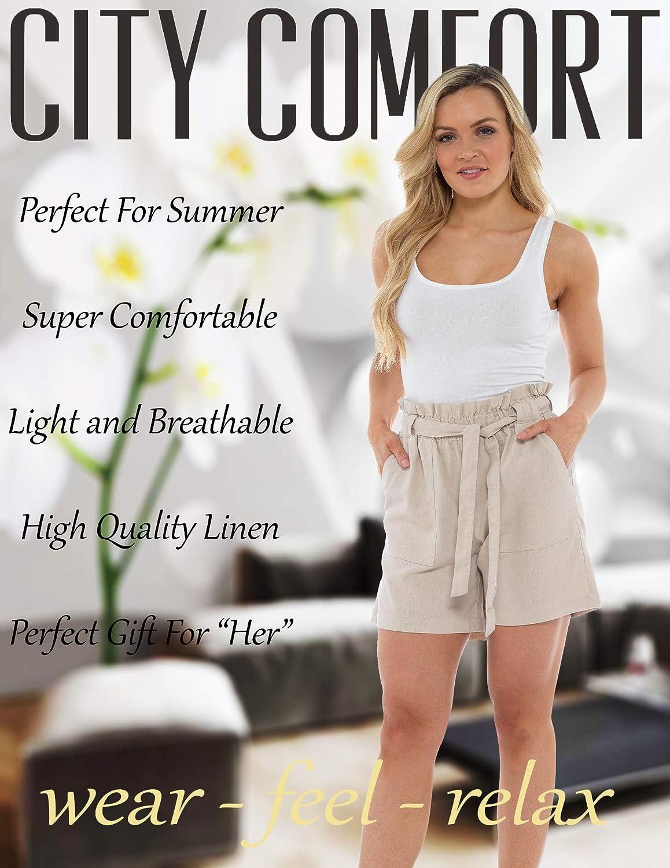 Donna a Pieghe Vita Alta Pantaloni Da Donna A Pois Summer fashion Plain Pantaloncini