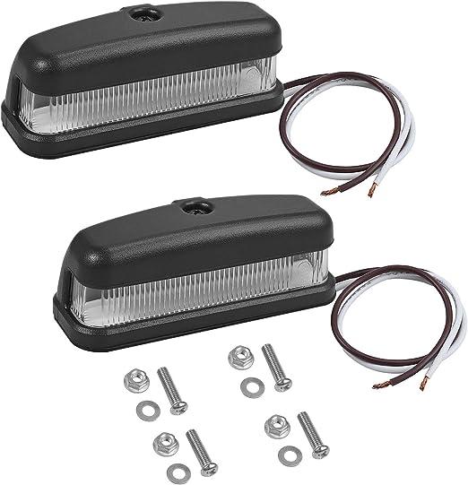 Prozor 2 X Led Kennzeichenbeleuchtung 6leds Nummernschildbeleuchtung License Plate Lights 12 24v Ip67 Wasserdicht Universal Kennzeichen Licht Für Auto Lkw Anhänger Auto