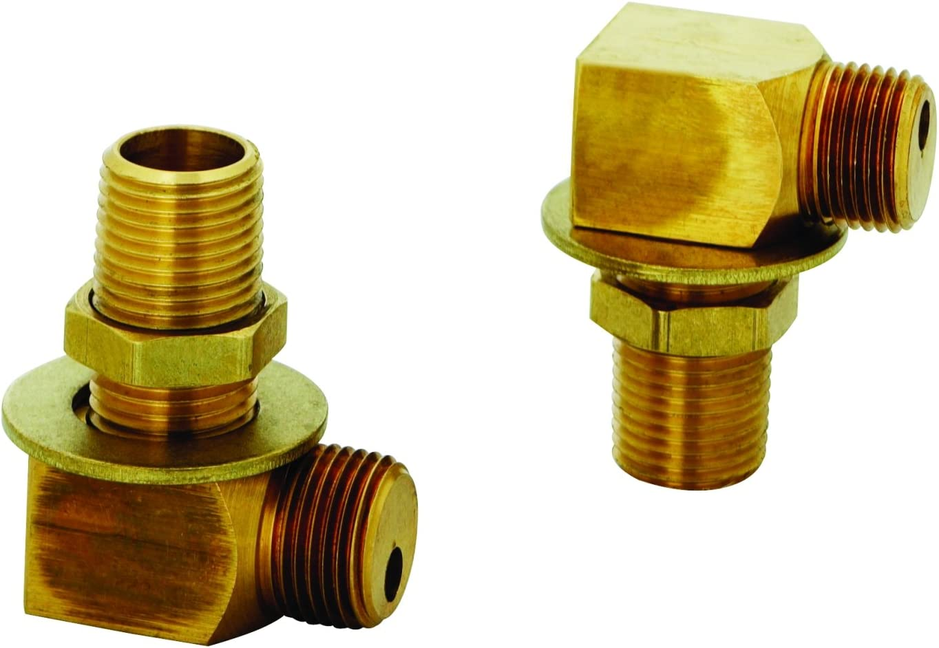 Amazon Com T S Brass B 0230 K Installation Kit For B 0230 Style Faucets Two Short Elbows Nipples Lock Nuts And Washers That Provide 1 2 Npt Male Inlet And Outlet When Assembled Industrial Scientific