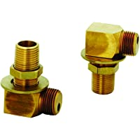 """T&S Brass B-0230-K Installation Kit for B-0230 Style Faucets. Two short elbows, nipples, lock nuts and washers that provide 1/2"""" NPT male inlet and outlet when assembled"""