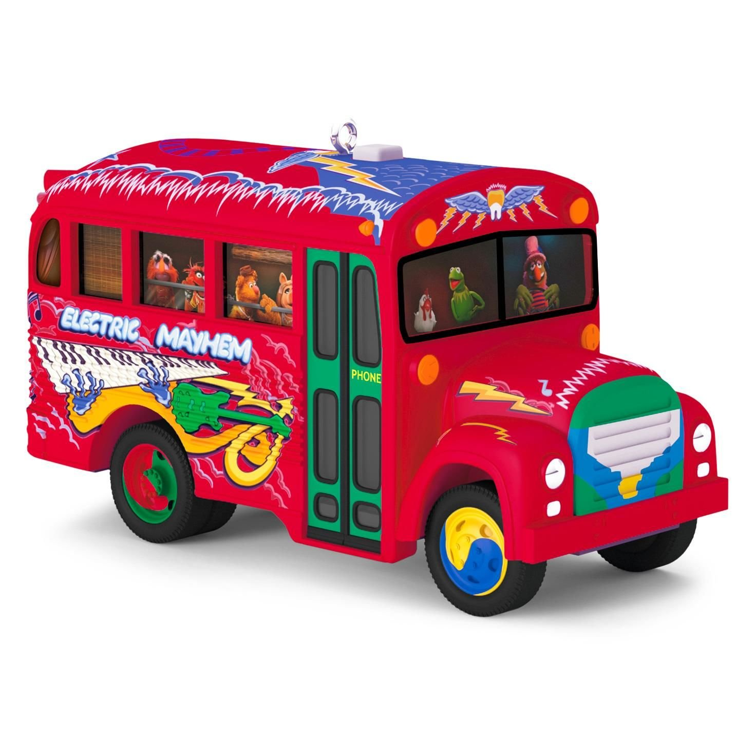 Hallmark 2016 Christmas Ornament The Muppets The Electric Mayhem Bus Musical ...