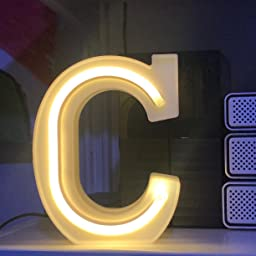 Amazon Com Guocheng Led Neon Letters Light Marquee Alphabet Neon Sign Decorative Light Up Words Light For Home Wedding Christmas Birthday Party Shopwindow Bar K Home Kitchen