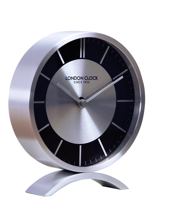London Clock Sport Kamin, gebürstetes Chrom, 15 x 13 x 3,5 cm