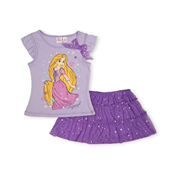 Amazon.com: Disney Rapunzel de la muchacha Ruffled Tank ...