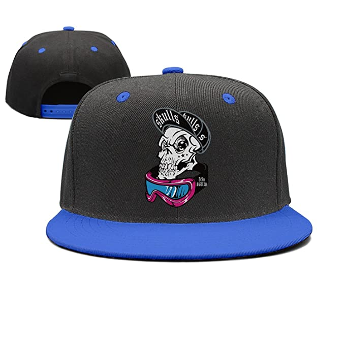 Maloery Rorry Low Profile Cool Skull Hip Hop Hat Baseball Cap for Unisex