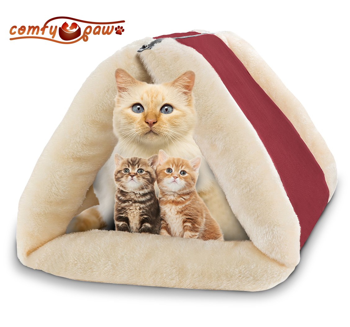 Pet Bed And Mat - Cuddly Self Heated - Washable Comfy House For Kittens Cats .. 14