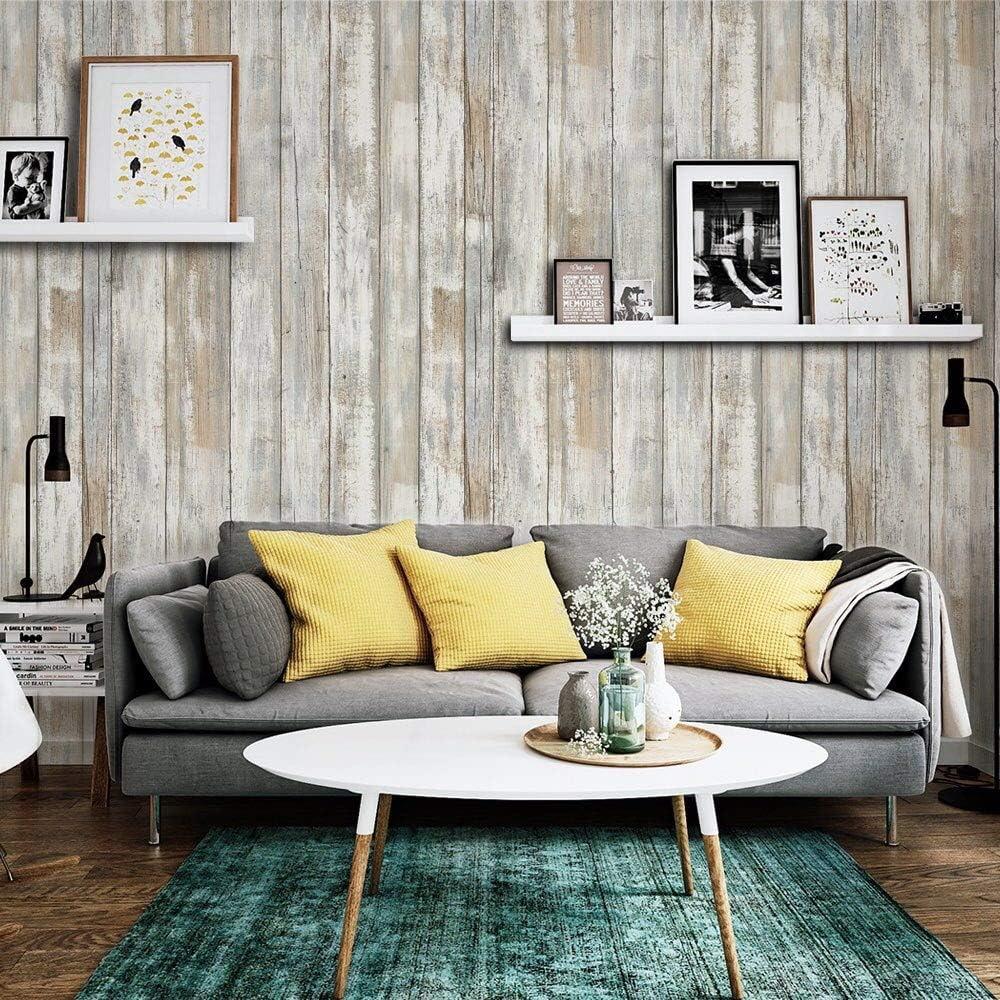 Papel Adhesivo para Muebles Madera Papel Pintado 45cm X 2m ...