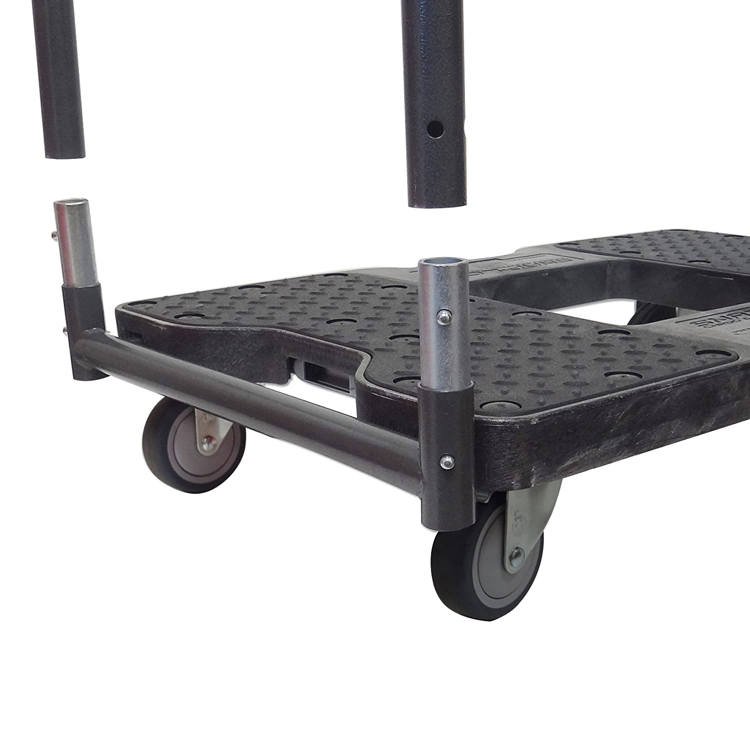 SNAP-LOC PANEL CART DOLLY BLACK with 1500 lb Capacity, Steel Frame ...
