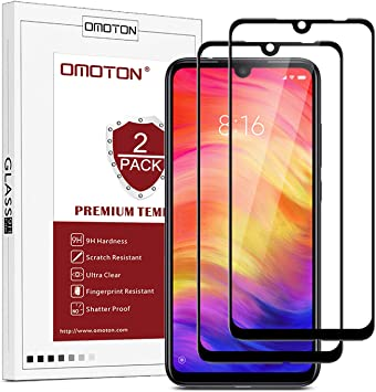 OMOTON Protector Pantalla Xiaomi Redmi Note 7 Cristal Templado ...