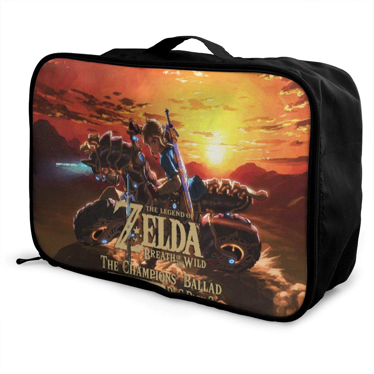 BOKAIKAI1306 Handsome Legend Zelda Unisex Adult Fashion Lightweight Large Capacity Portable Large Travel Duffel Bag Mens Woman Luggage Bag 3D Print Customized Boarding Box