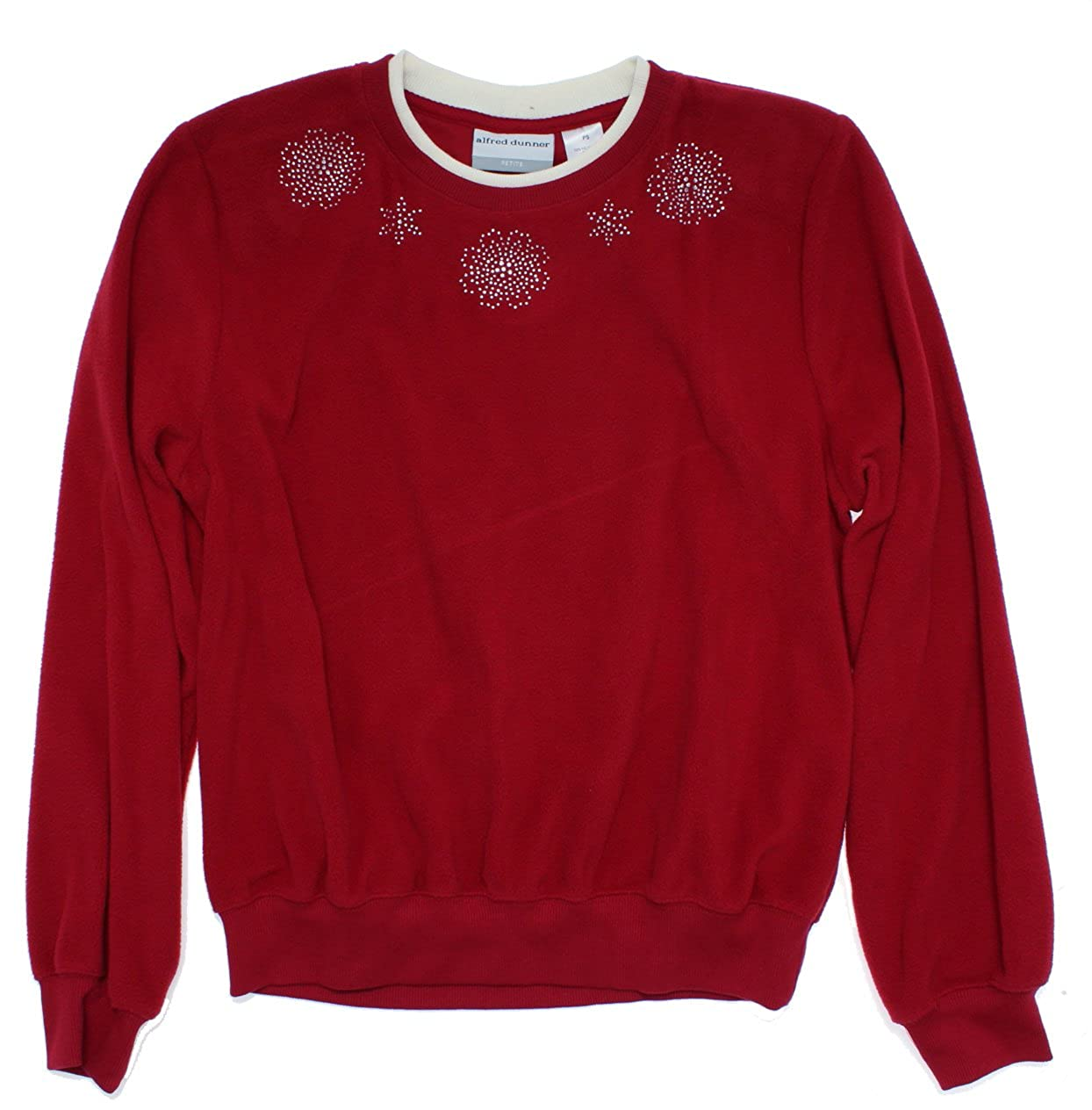 89e0bc399e8 Amazon.com  Alfred Dunner Womens Petites Pullover Embellished Casual Top   Clothing