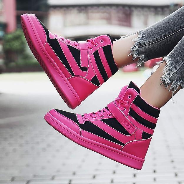 cef79cf83150 UBFEN Women Shoes Hidden Wedges 7cm Ankle Boots Fashion Sneaker High Top  Bootie Flats Platform Casual  Amazon.ca  Shoes   Handbags