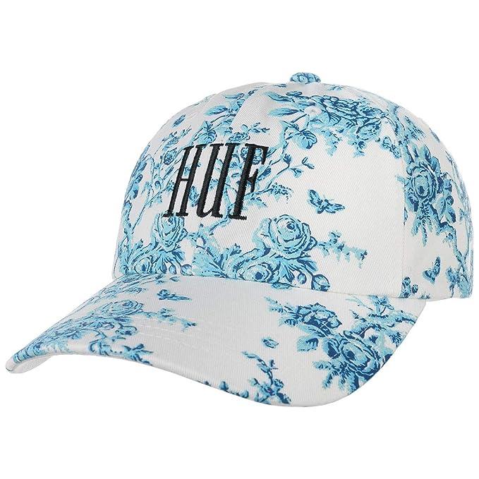 HUF Gorra de béisbol Highline con Visera Curvada Blanco-Azul ...