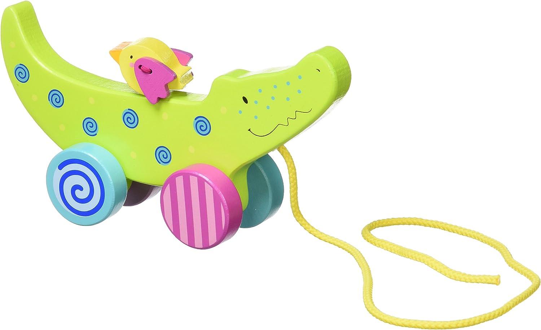 Goki 54917 Pull-Along Crocodile Toy
