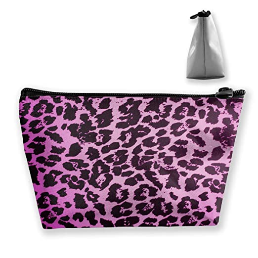 Amazon.com  Trapezoidal Cosmetic Bags Makeup Toiletry Pouch Pink Leopard  Print Travel Storage Bag Phone Purse  Clothing 566c917059a06