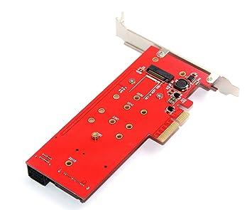 JMT Adaptador de tarjeta elevadora de CaNew 3 Interfaces M.2 NVMe ...