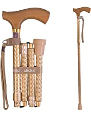 Switch Stick Luxury Engraved Pearl Walking Stick - Folding And Adjustable